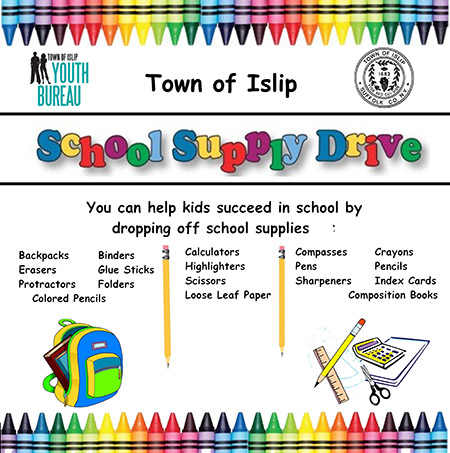 Back to school donations flyer