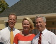 County Legislator Tom Cilmi, Councilwoman Bergin Weichbrodt, Councilman Flotteron